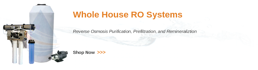 Whole house reverse osmosis purification systems