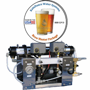 800gpd reverse osmosis craft brew water system
