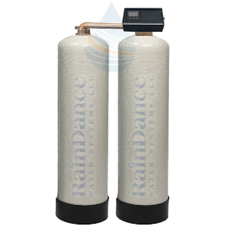 Twin alternating continuous carbon filters and twin water softeners for unlimited filtered water
