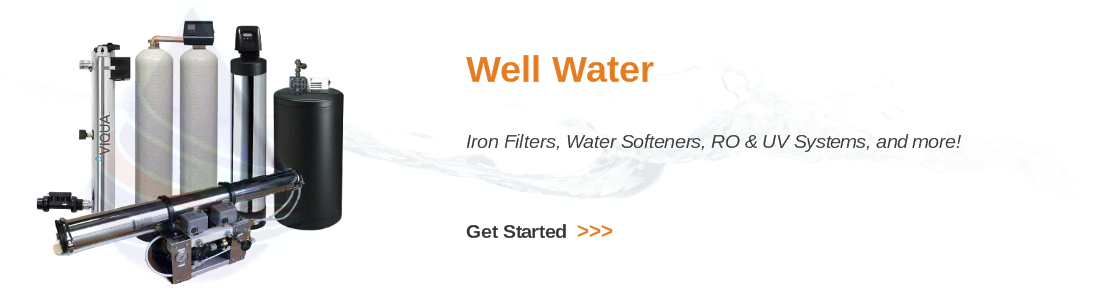 Whole house well water treatment for iron, manganese, sediment
